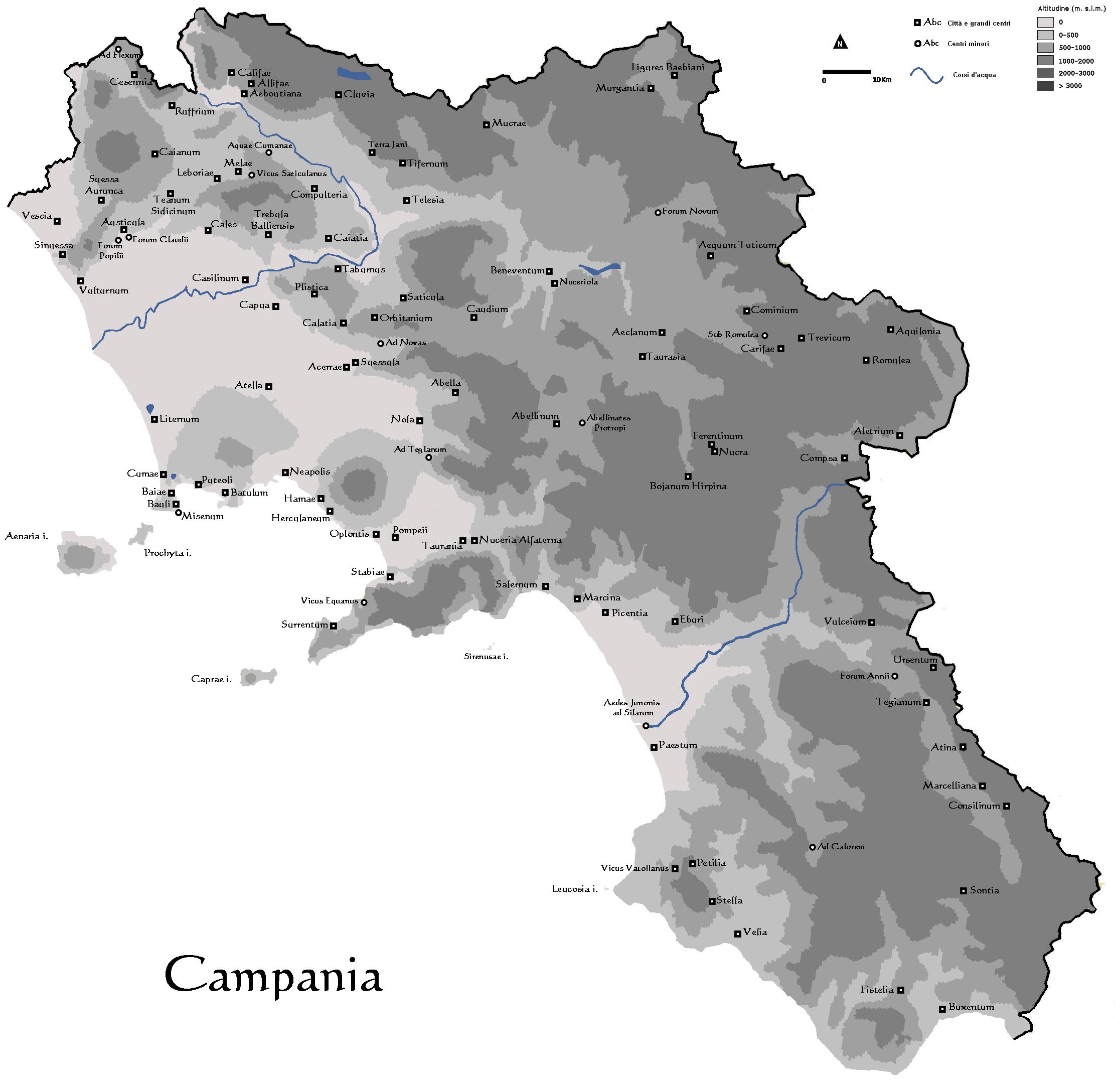 Cartina Campania Grande.Instoria Italia Antiqua Xv Campania