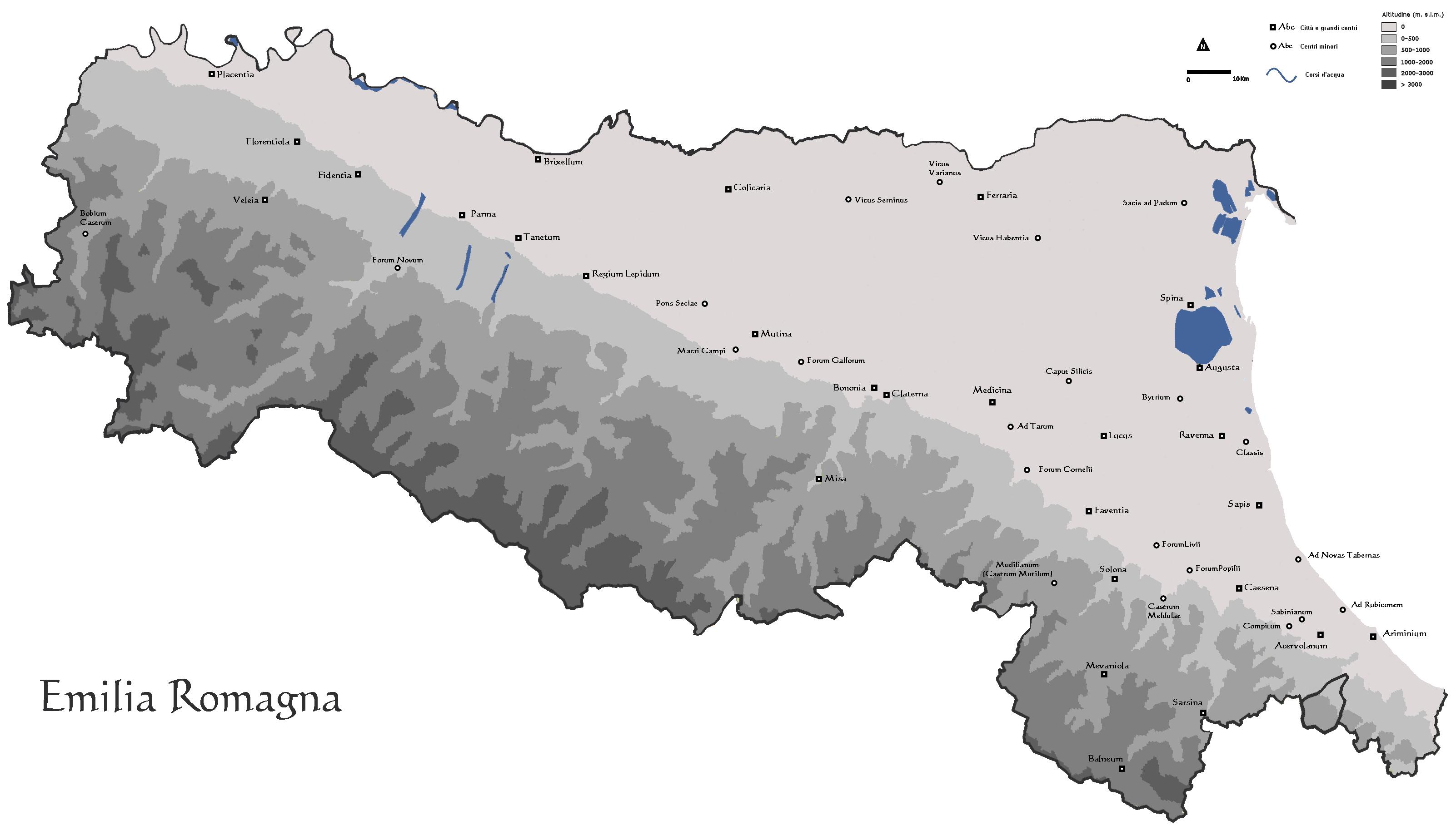 Cartina Topografica Emilia Romagna.Instoria Italia Antiqua Viii Emilia Romagna