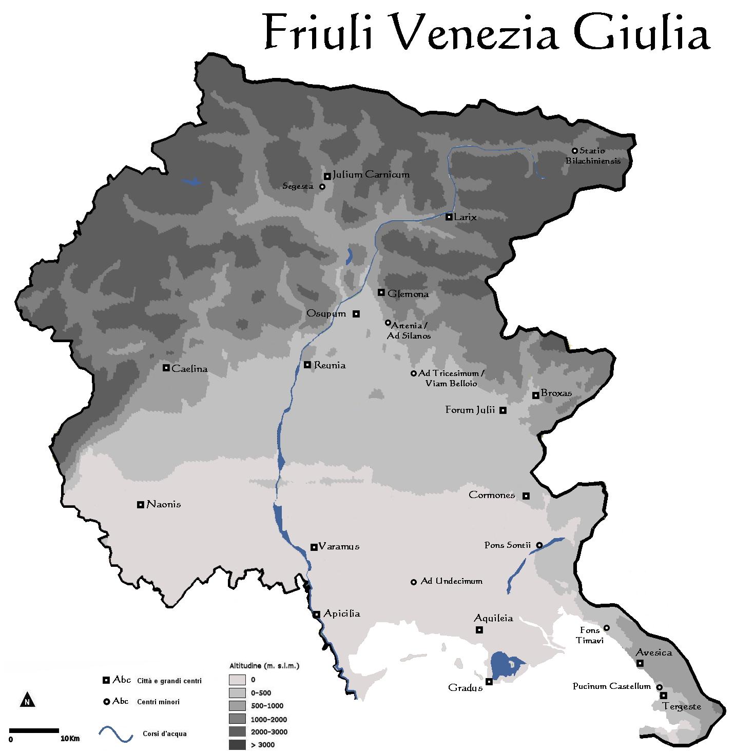 Mappa fiumi friuli venezia giulia for Arredamento friuli venezia giulia