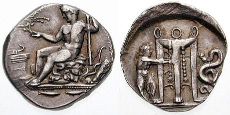 Moneta, Eracle Ecista Vs Apollo Pizio