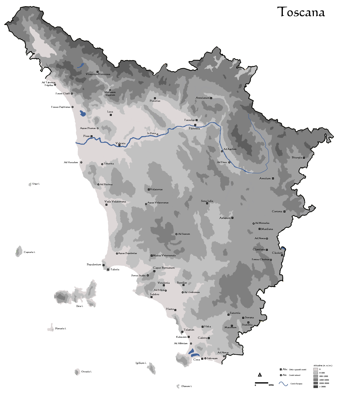 Cartina Costa Tirrenica Toscana.Instoria Italia Antiqua Ix Toscana